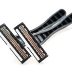 Razor equipment for shaver isolated on white background