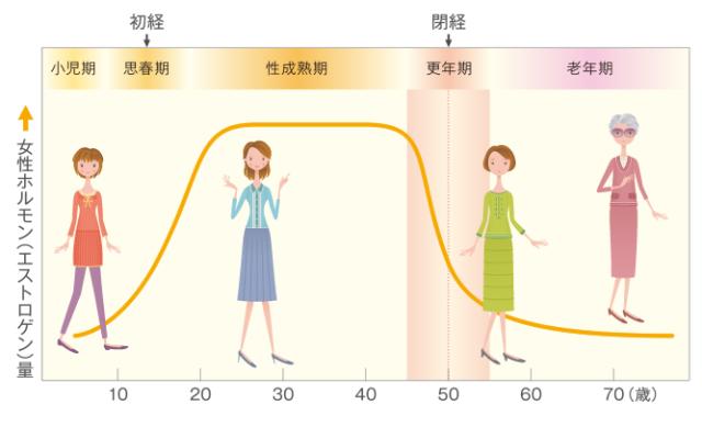 女性ホルモン 変化
